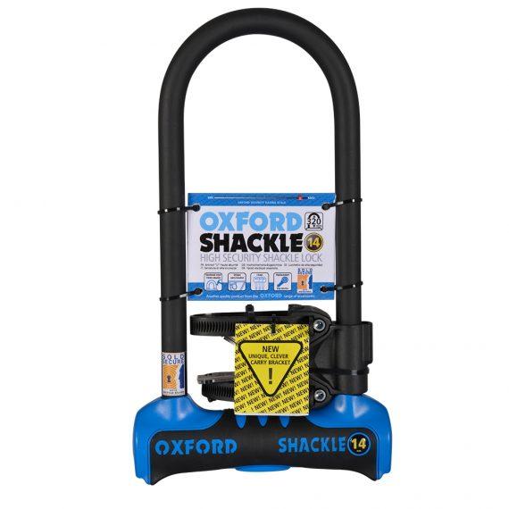 Oxford Shackle 14 U-Lock (320mm) Blue