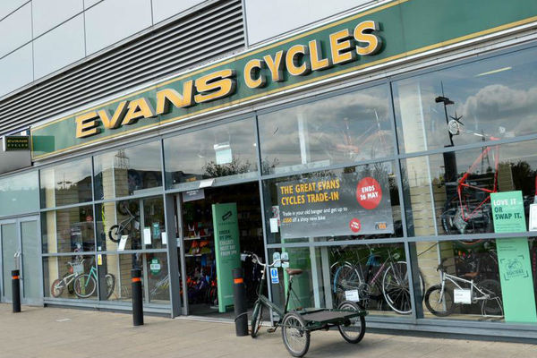 Evans Cycles Shop Front