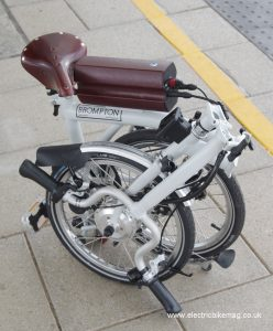 Brompton Folding bike fitted with conv-e conversion kit