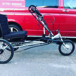 Mission Cycles semi recumbent hand cycle conversion