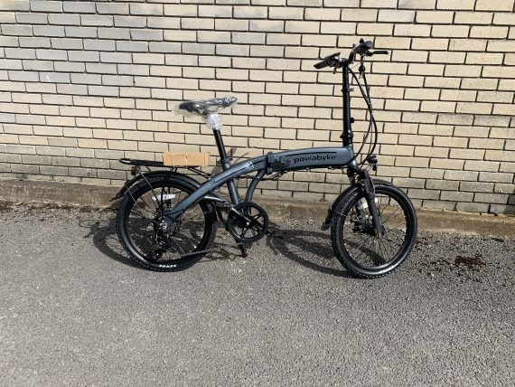Powabyke F100DX Folding Electric Bike Side View