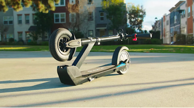 Razor E-Prime Electric Scooter Folded Down