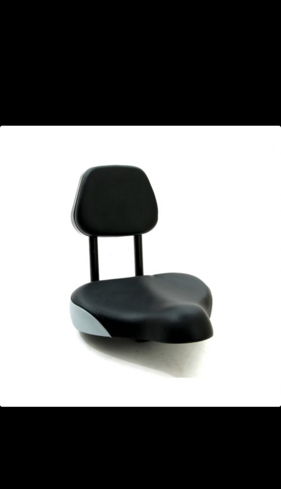Bicycle or tricycle Saddle seat with back rest