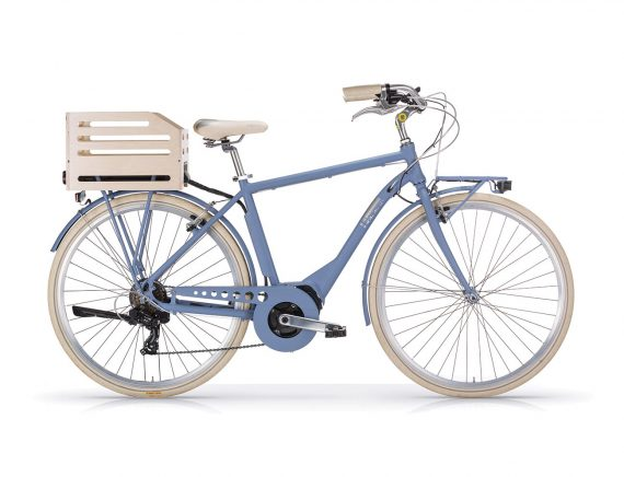 Aposthrophe Gents Hybrid Electric bike Aviator Blue by Powabyke