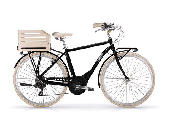 Aposthrophe Gents Hybrid Electric bike Black by Powabyke