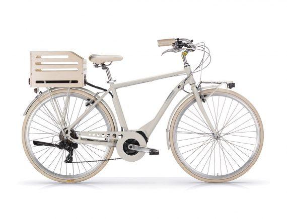 Aposthrophe Gents Hybrid Electric bike Sand by Powabyke