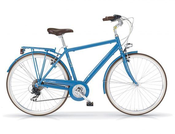Boulevard Aviator Blue Gents Hybrid 18 Speed
