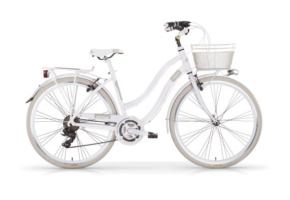 Vintage Ladies Hybrid 21 Speed Ivory and White